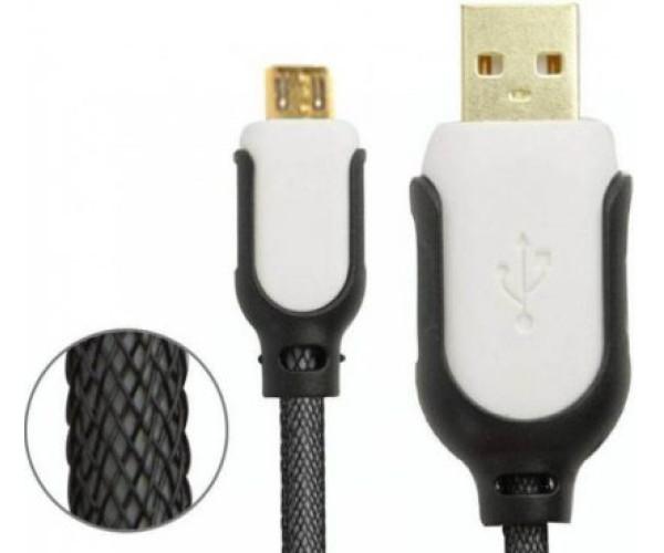 OEM USB TO MICRO USB CABLE – ΚΑΛΩΔΙΟ ΔΕΔΟΜΕΝΩΝ ΓΙΑ ANDROID 1.35ΜΕΤΡΑ - ΛΕΥΚΟ & ΜΑΥΡΟ