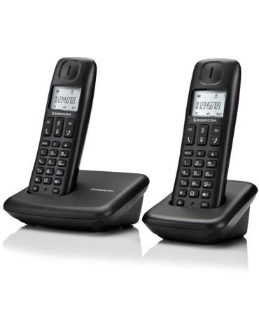 Ασύρματο Τηλέφωνο Sagem D142 Duo Eco Dect Gap Low Radiation - Μαύρο