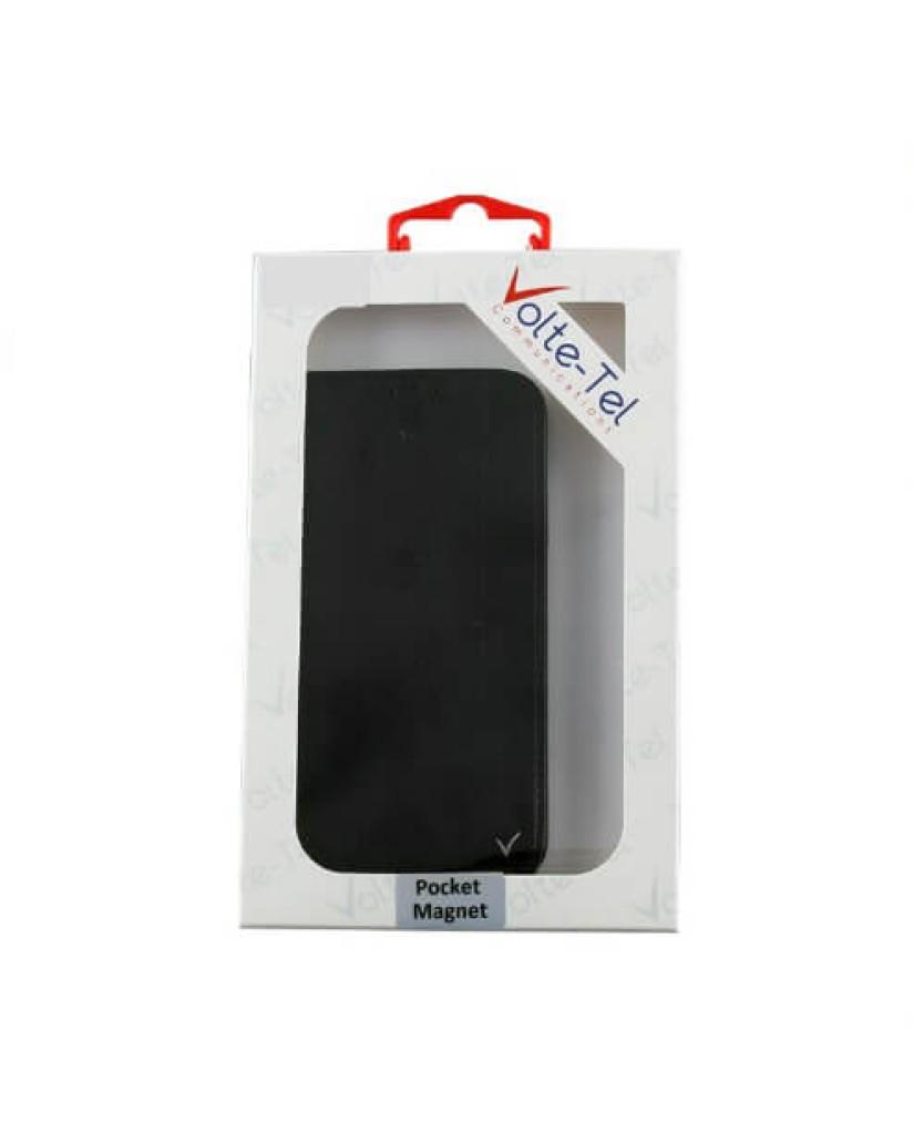 """ΘΗΚΗ SAMSUNG A7 2018 A750 6.0"""" - POCKET MAGNET BOOK STAND – BLACK"""