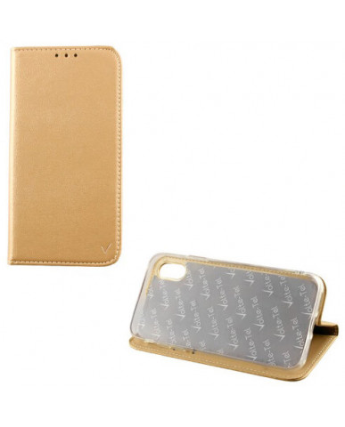 "ΘΗΚΗ SAMSUNG A7 2018 A750 6.0"" - POCKET MAGNET BOOK STAND – GOLD"