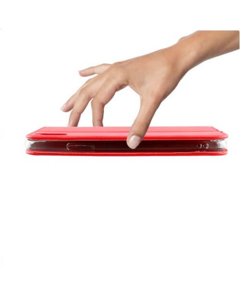 """ΘΗΚΗ SAMSUNG A7 2018 A750 6.0"""" - POCKET MAGNET BOOK STAND – RED"""