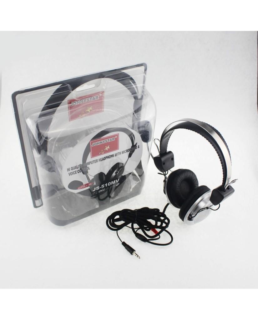Ενσύρματα Στερεοφωνικά Ακουστικά με Μικρόφωνο OEM JohnyStar JS-510MV