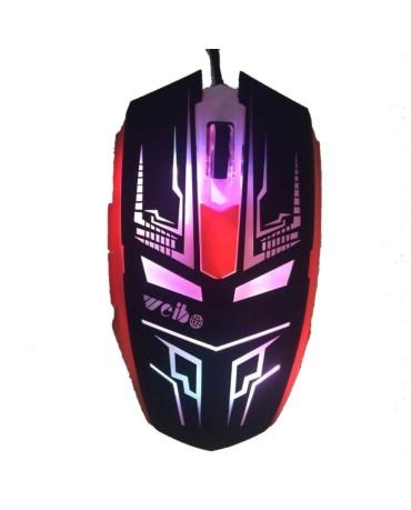 Ενσύρματο Ποντίκι Με LED 6D Gaming Mouse DEADPOOL Σχέδιο - Κόκκινο/Μαύρο
