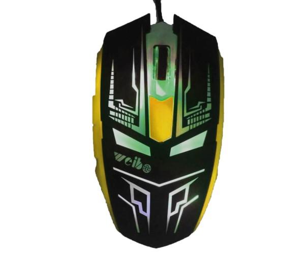 Ενσύρματο Ποντίκι Με LED 6D Gaming Mouse DEADPOOL Σχέδιο - Κίτρινο/Μαύρο