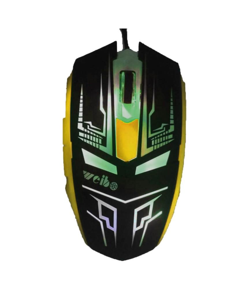 Ενσύρματο Ποντίκι Με LED 6D Gaming Mouse DEADPOOL Σχέδιο - Πράσινο/Μαύρο