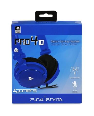 Headset 4Gamers PRO4-10 Stereo Gaming Ακουστικά Wired Blue - PS4 / PS Vita - Μπλε