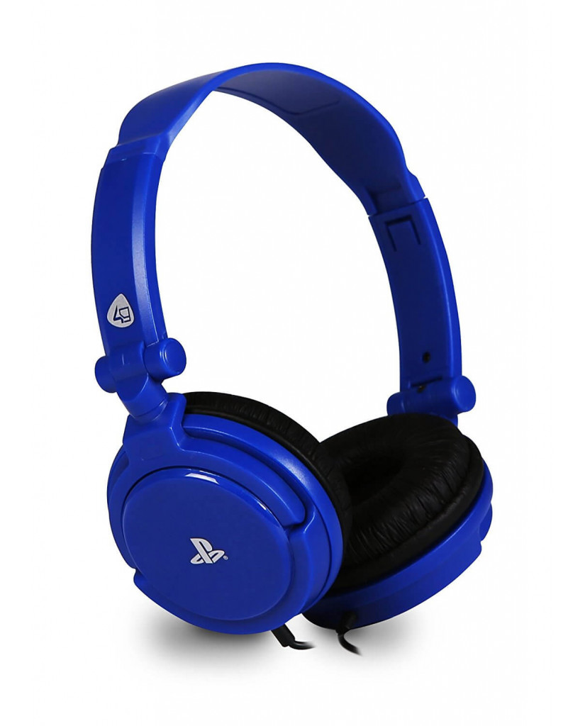 Headset 4Gamers PRO4-10 Stereo Gaming Ακουστικά Wired Blue - PS4 / PS Vita - Μπλε