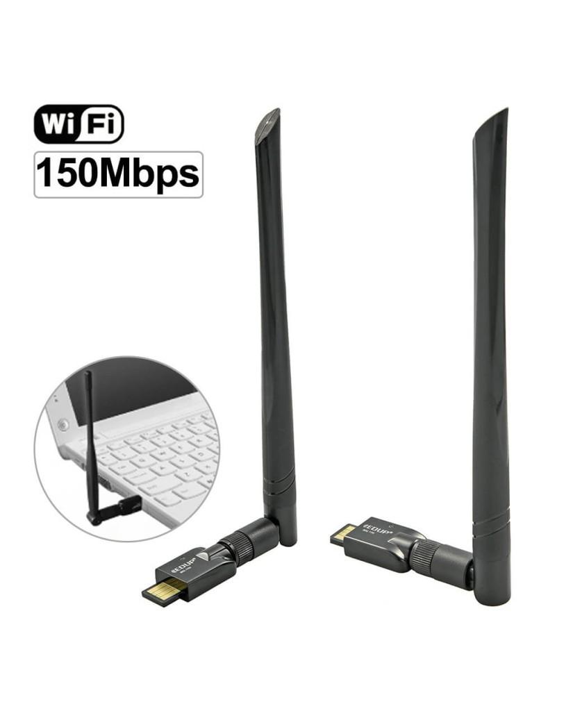 Ασύρματη Ενισχυτική Κεραία WiFi 150M Για LAPTOP / PC - MINI ADAPTER - EDUP EP-MS150N