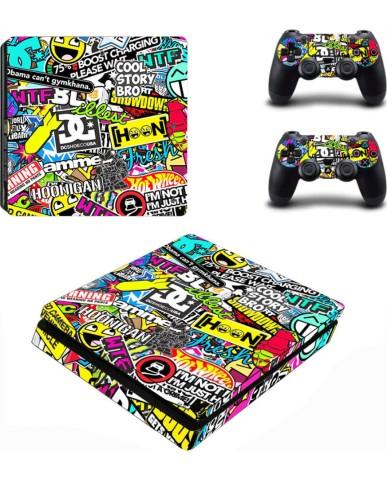 PS4 Διακοσμητικό - Προστατευτικό Σετ Αυτοκόλλητα Sticker Bomb