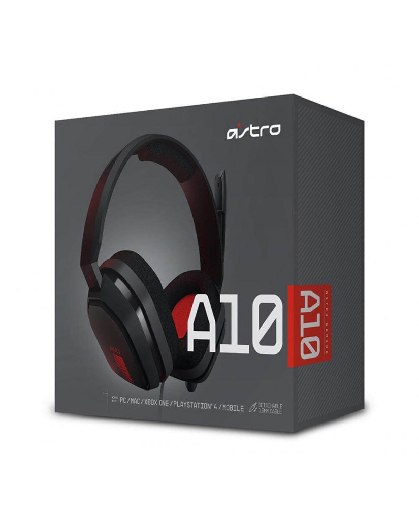 ASTRO A10 - GAMING HEADSET ΓΙΑ PC / PS4 / XBOX ONE / SMARTPHONES – ΓΚΡΙ & KOKKINO
