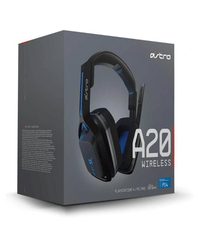ASTRO A20 WIRELESS GAMING HEADSET ΓΙΑ PS4 / PC / MAC – ΓΚΡΙ & ΜΠΛΕ