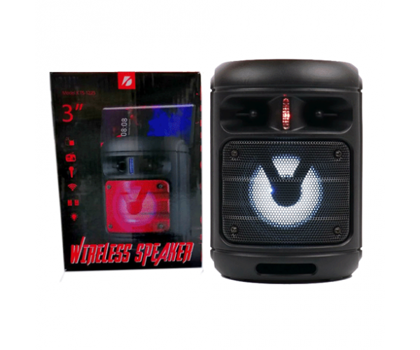 Bluetooth Φορητό Ηχείο Με Ράδιο - Wireless Portable Speaker KTS-1225 - Μαύρο