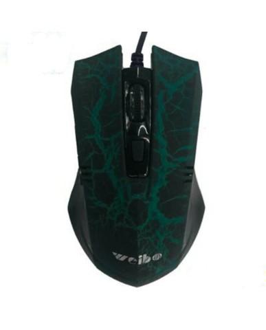 Ενσύρματο Ποντίκι Με LED High Blu-Ray Gaming Mouse - Μαύρο/Πράσινο