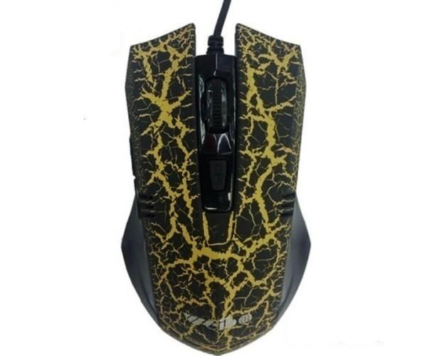 Ενσύρματο Ποντίκι Με LED High Blu-Ray Gaming Mouse - Μαύρο/Κίτρινο