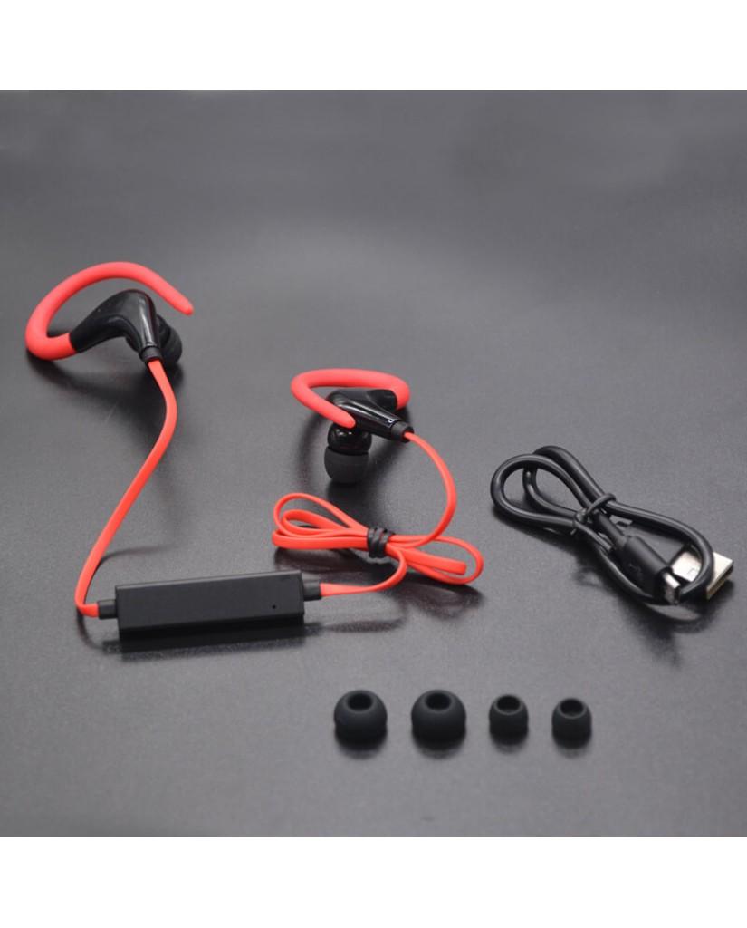 Ασύρματα Ακουστικά GORSUN E55 SPORTS EARBUDS Handsfree - Κόκκινο