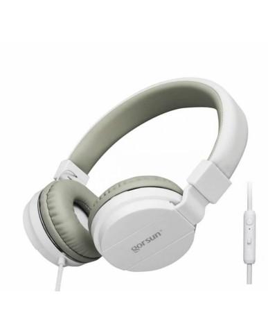 Ακουστικά με Μικρόφωνο GORSUN GS-779 Συμβατά με MP3/PC/Tablet/Laptop/iPad/iPod/Κινητά Τηλέφωνα - Λευκό