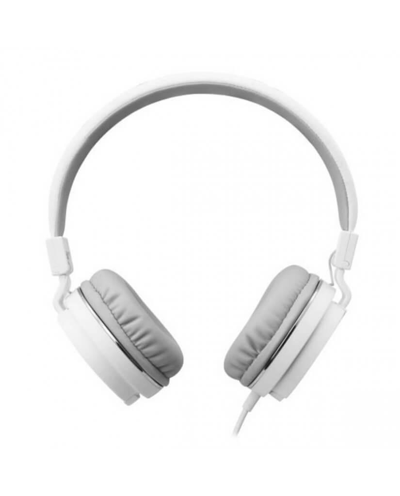 Ακουστικά με Μικρόφωνο GORSUN GS-779 Συμβατά με PS4/MP3/PC/Tablet/Laptop/iPad/iPod/Κινητά Τηλέφωνα - Λευκό