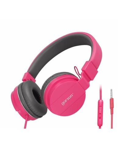 Ακουστικά με Μικρόφωνο GORSUN GS-779 Συμβατά με PS4/MP3/PC/Tablet/Laptop/iPad/iPod/Κινητά Τηλέφωνα - Ροζ