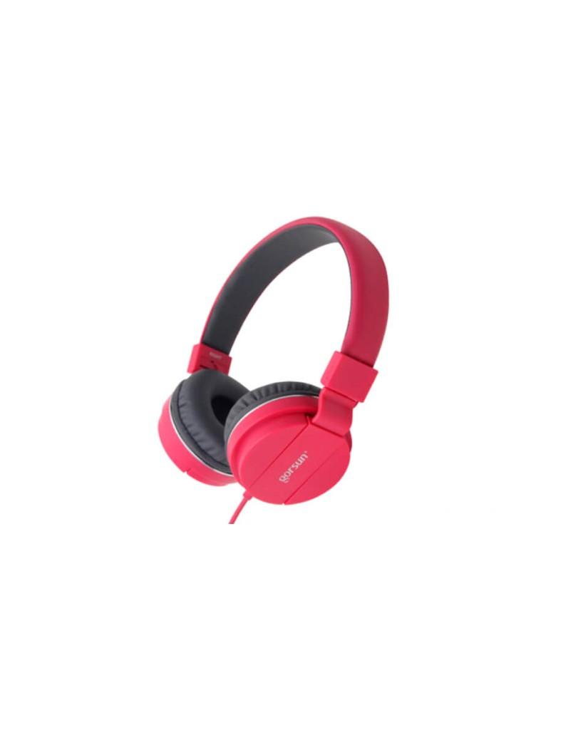 Ακουστικά με Μικρόφωνο GORSUN GS-779 Συμβατά με MP3/PC/Tablet/Laptop/iPad/iPod/Κινητά Τηλέφωνα - Ροζ