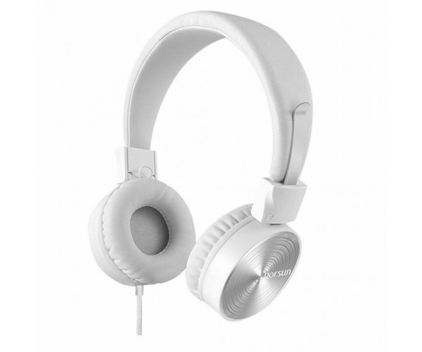 Στερεοφωνικά Ακουστικά Gorsun GS-782 με Μικρόφωνο και Ρύθμιση Έντασης Ήχου - Λευκό