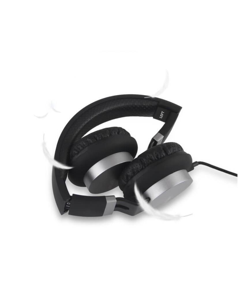 Στερεοφωνικά Ακουστικά GORSUN GS-789 με Μικρόφωνο και Ρύθμιση Έντασης Ήχου - Μαύρο