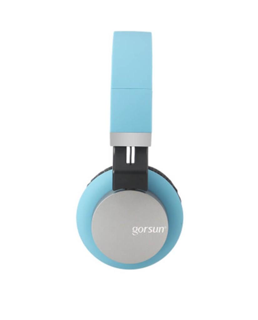 Στερεοφωνικά Ακουστικά Gorsun GS-789 με Μικρόφωνο και Ρύθμιση Έντασης Ήχου - Μπλε