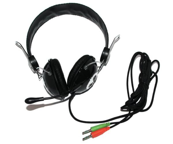 Ενσύρματα Ακουστικά με Μικρόφωνο GORSUN GS-A870MV Συμβατά με MP3/PC/Tablet/Laptop/iPad/iPod/Κινητά Τηλέφωνα - Μαύρο