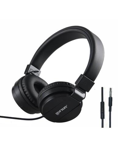 Ακουστικά με Μικρόφωνο GORSUN GS-779 Συμβατά με PS4/MP3/PC/Tablet/Laptop/iPad/iPod/Κινητά Τηλέφωνα - Μαύρο