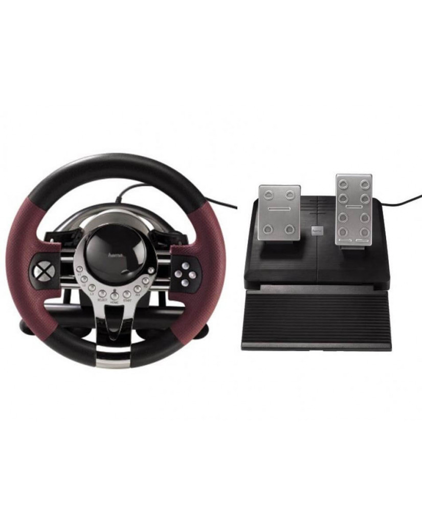 HAMA THUNDER V5 RACING WHEEL - ΤΙΜΟΝΙΕΡΑ ΓΙΑ PS3/PC