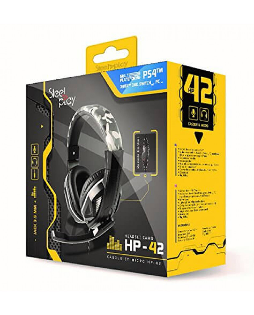 Steelplay HP42 Wired Gaming Headset - PS4 / Xbox One / Switch / PC – Γκρι Παραλλαγής