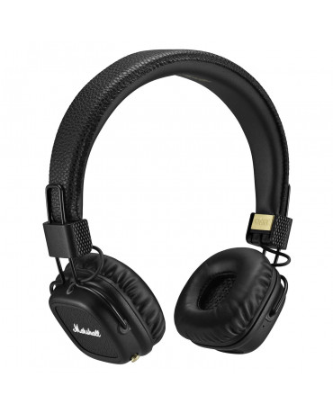 MARSHALL MAJOR II BLUETOOTH WIRELESS STEREO HEADSET - ΜΑΥΡΟ