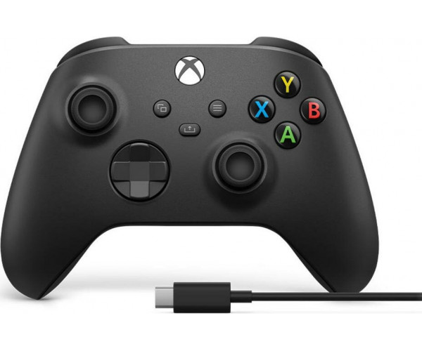 Microsoft Xbox Wireless Controller + USB-C Cable (Συμβατό Xbox One S / X - PC Windows 10 - Android - IOS) - Μαύρο