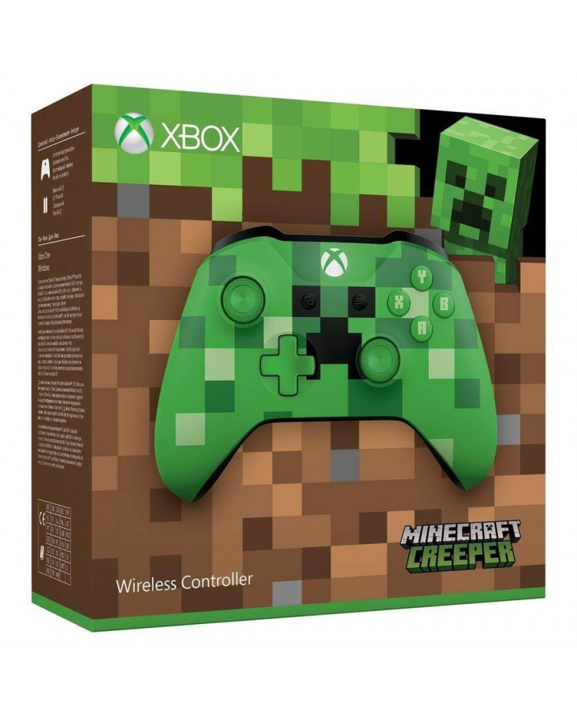 Microsoft Xbox One New Wireless Controller S Minecraft Creeper - Χειριστήριο Xbox One - Πράσινο