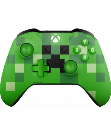 Microsoft Xbox One New Wireless Controller S Minecraft Creeper - Χειριστήριο Xbox One - Πράσινο