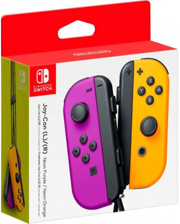 Nintendo Switch Joy-Con Pair - Neon Purple / Neon Orange