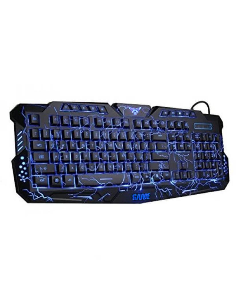 Ενσύρματο Πληκτρολόγιο με LED 3 χρωμάτων Backlight M-100 Gaming