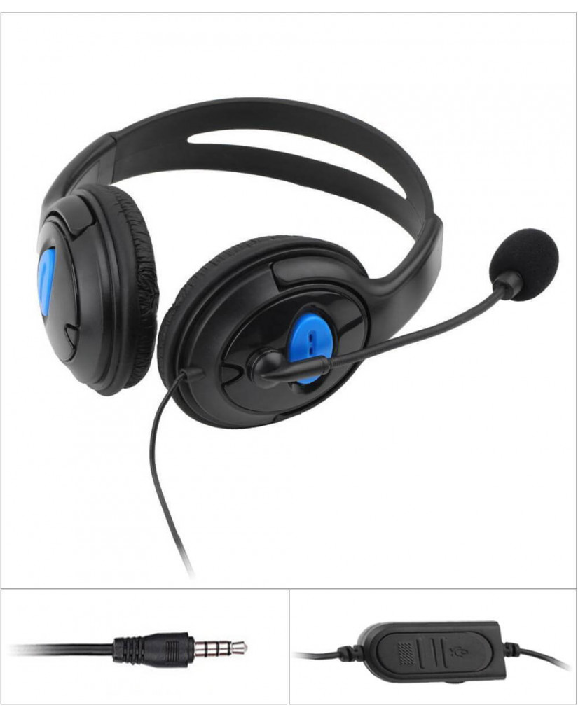 OEM PS4 WIRED GAMING HEADSET WITH MICROPHONE P4-890
