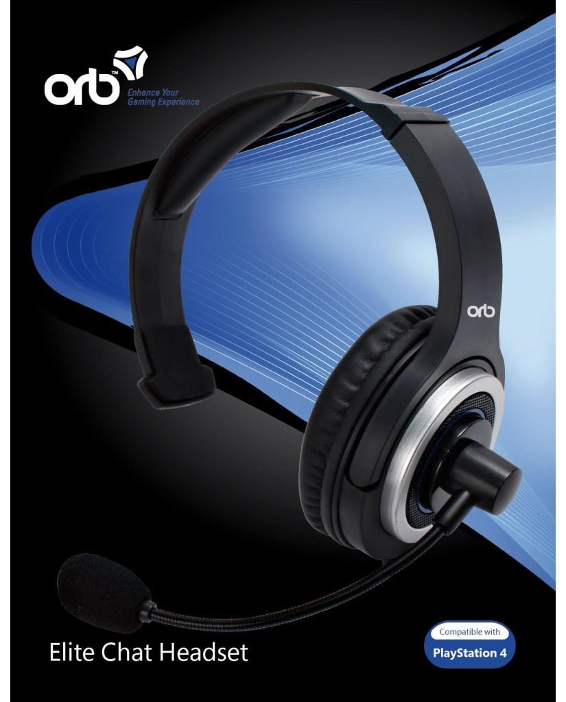 ORB ELITE CHAT GAMING HEADSET ΓΙΑ PS4 – ΜΑΥΡΟ