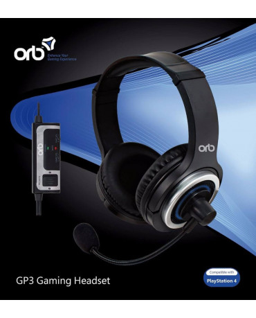 ORB GP3 GAMING HEADSET ΓΙΑ PS4 - ΜΑΥΡΟ