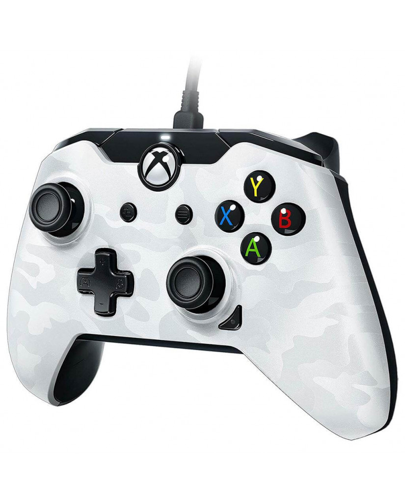 PDP Xbox One & PC Wired Controller Stealth Series - Ghost White
