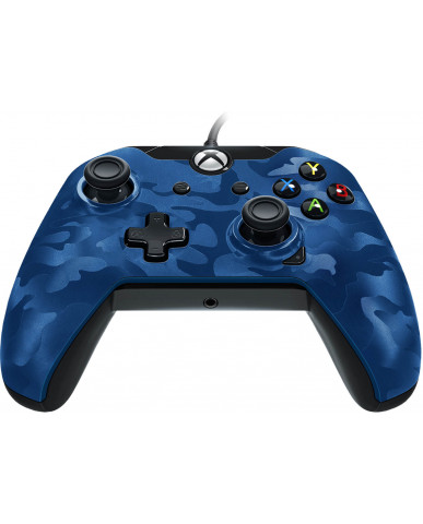 PDP Xbox One & PC Wired Controller Stealth Series – Blue Camo