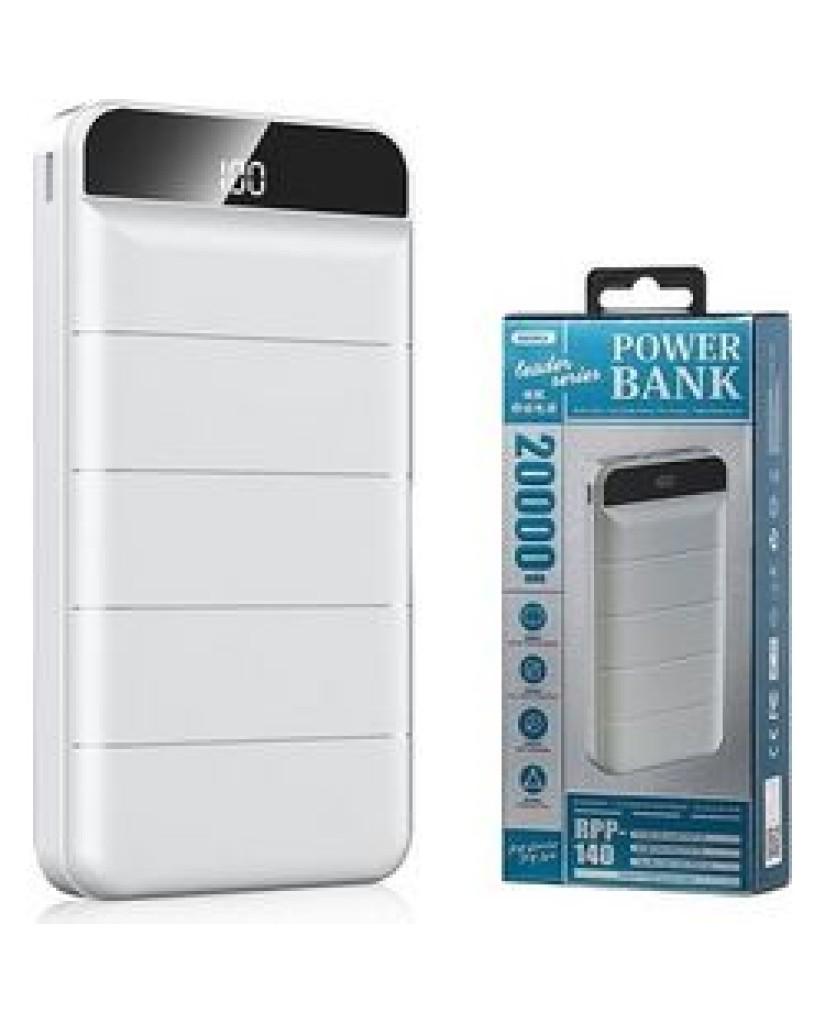 POWER BANK REMAX RPP-140 20000MAH - ΛΕΥΚΟ