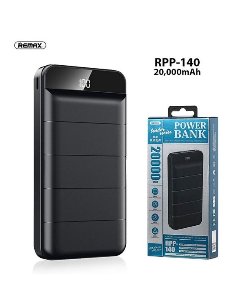 POWER BANK REMAX RPP-140 20000MAH - ΜΑΥΡΟ
