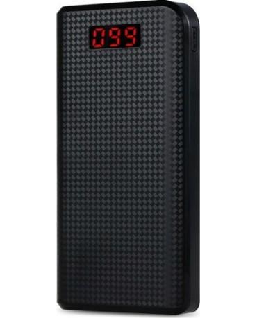 Remax Proda Power Box PPL-14 30000mAh Με 2 Θύρες USB και φακό LED Power Bank - Μαύρο