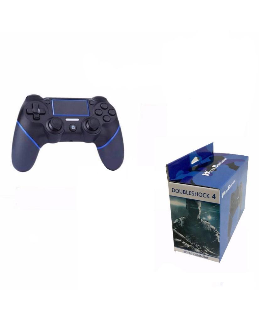 Ενσύρματο Χειριστήριο PS4/PC OEM Doubleshock 4 Με καλώδιο 1.5 μέτρο - Μαύρο