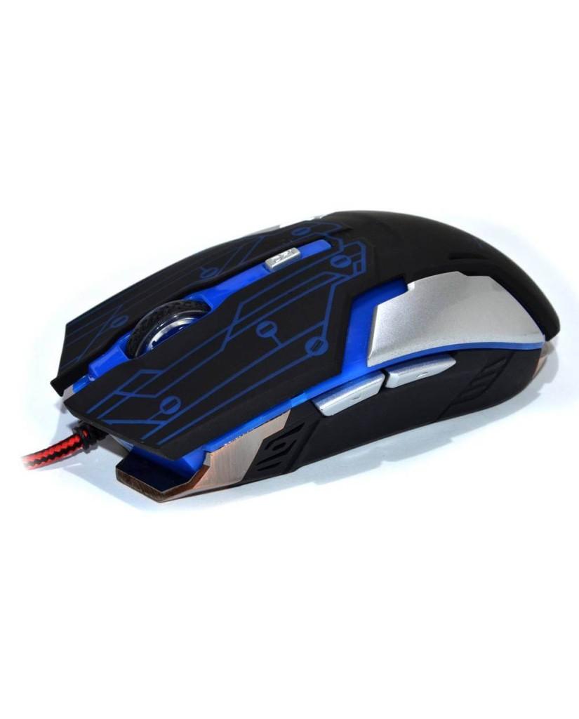 Ενσύρματο Ποντίκι Με Φωτισμό Και Μεταλλική Βάση R.HORSE ROBOCOP FC-1800 USB 2.0 WIRED LED GAMING MOUSE - Μαύρο / Κόκκινο