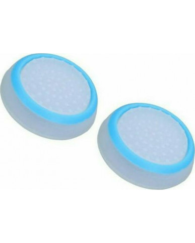 Σιλικόνης Κάλυμμα Λαβής Αντίχειρα για Αναλογικό Χειριστήριο PS4/PS3/PS2/XBOX ONE/XBOX 360/SWITCH - Λευκό Μπλε