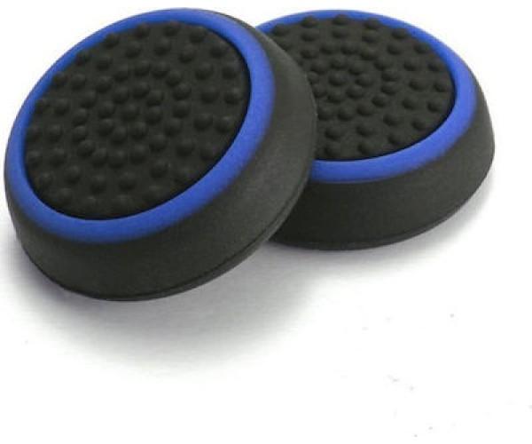 Σιλικόνης Κάλυμμα Λαβής Αντίχειρα για Αναλογικό Χειριστήριο PS4/PS3/PS2/XBOX ONE/XBOX 360/SWITCH - Μαύρο Μπλε