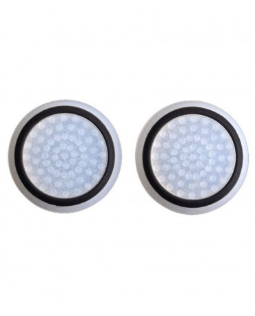 Σιλικόνης Κάλυμμα Λαβής Αντίχειρα για Αναλογικό Χειριστήριο PS4/PS3/PS2/XBOX ONE/XBOX 360/SWITCH - Μαύρο Διάφανο