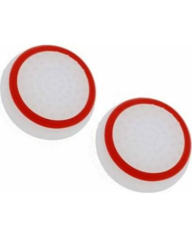 Σιλικόνης Κάλυμμα Λαβής Αντίχειρα για Αναλογικό Χειριστήριο PS4/PS3/PS2/XBOX ONE/XBOX 360/SWITCH - Λευκό Κόκκινο